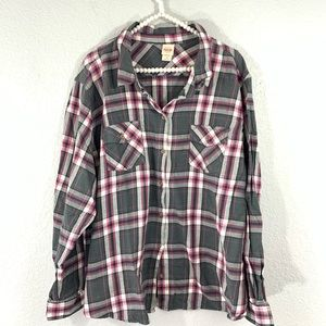 Mossimo plus size plaid button down